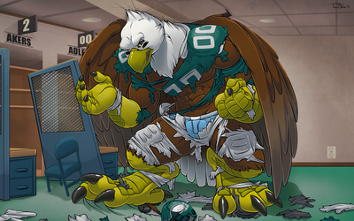 Changing In The Locker Room [Wallpaper Edition] by Pheagle-Adler