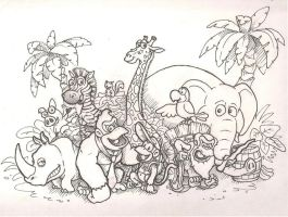 Donkey Kong Country Returns (pen) by mattdog1000000