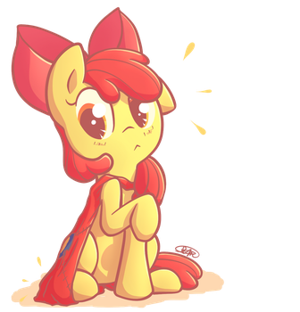 Apple Bloom's Snagged Cape by Ranoutofideas