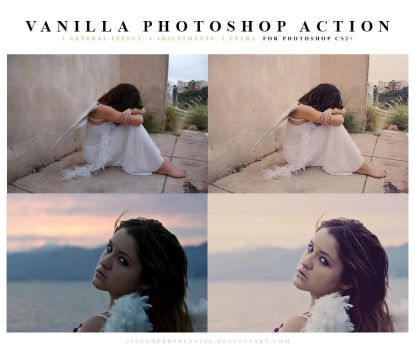 Photoshop Vanilla Action by lieveheersbeestje