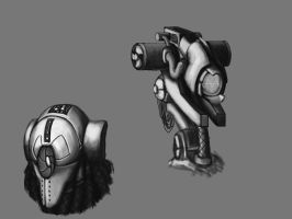 Robot Heads by Meirnon