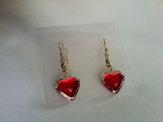Heart Container Earrings - Gold Plated by akuriko