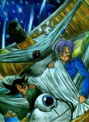 DBGT- Sleep Under the Stars by mingming07