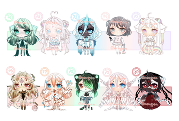 ADOPTS: 100 Adopt challenge 71-80 [6/10 OPEN] by Mewpyonadopts