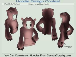 Hungry Hungry Hippo Hoodie by A-R-T-3-M-I-S