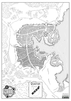 Map of Qyaeran city (Niil, fantasy world) by Etory