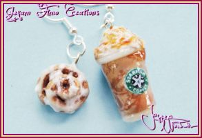 Frap n Cinnamon Roll - Earring by Jeyam-PClay