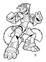 INK CIVET [Reploid] by megawolf77