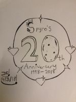 Spyro's 20th Anniversary Drawing by DazzyADeviant