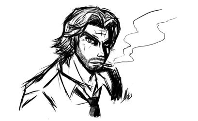 Bigby Wolf Outline by Smudgeandfrank