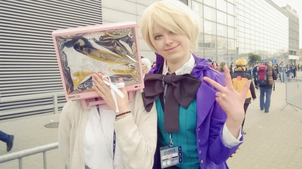 TV head and Alois Trancy cosplay by Luei6