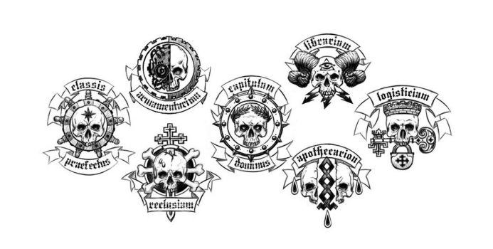 Fire Angels Chapter Insignia Elements by TRUEvector