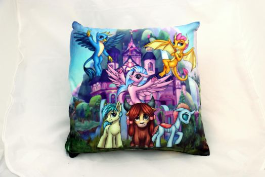 Students Pillow by Art-N-Prints