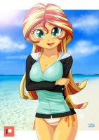 Swimsuits Shimmer [Rash guard] by uotapo