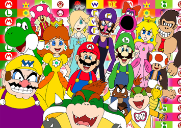 Mario crew 25th anniversary by ZeFrenchM