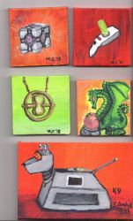 Third Collection of tiny canvases by dragondoodle