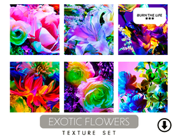 Exotic Flowers | Texture Set by Burn-the-life