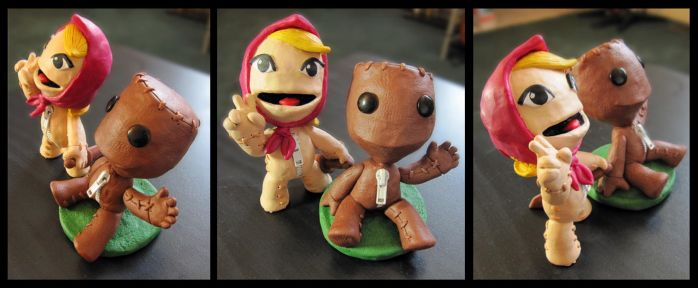 Sackboy and Sackgirl by thelaserhawk