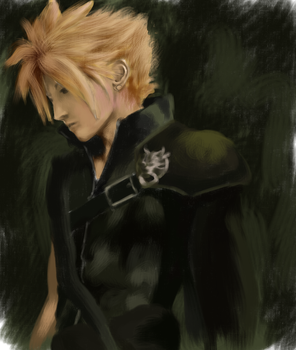 Cloud Strife by Ren-wood
