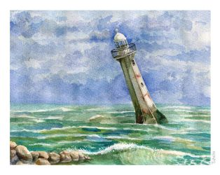 Falling Lighthouse by tin-sulwen