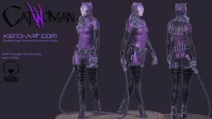 Catwoman - Wireframe by kdoyle9