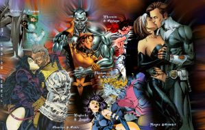 X-Men Couples by LeafeeLeBeau