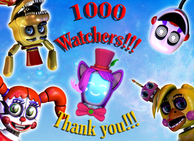 1000 watchers!!! Thank you!!! by Zylae