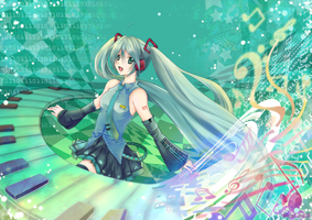 Binary System - Miku Ver.- by wingfung521
