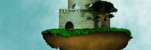 Commission ~ Floating Island banner by Anhrak