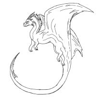 Free Dragon Lineart by Draconic93