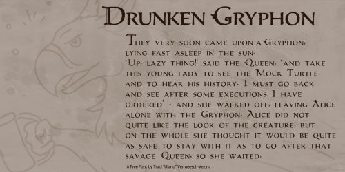 Drunken Gryphon - Free Font! by Ulario