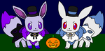 Vali and Haru Halloween by BluethornWolf