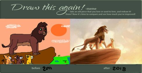 Draw this again _Kovu and his sons by ShakyLeox