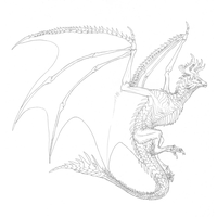 Commission #54 - Cale Wyvern (sketch, 2 of 7) by DelusionalPuffball