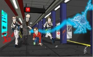 subway ghosts by egocenter