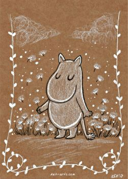 Moomin Sketch by keh-arts