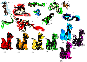 S- Creature Canine Adopts by Spazzy-StormyAdopts