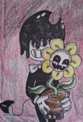 Bendy and Flowey 2. by westhemime