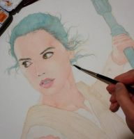 Rey (Star Wars) WIP by Trunnec