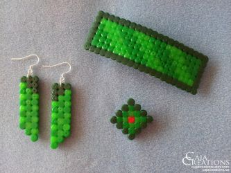 Nature green jewellery set by petrova