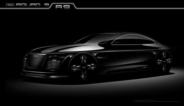 Audi Aquad 9 - A9 Sketches by ALIDESING