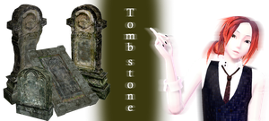 [MMD] Tomb stone DL by JoanAgnes