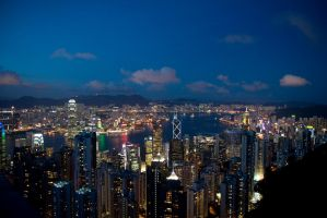 Hong Kong Night by parka