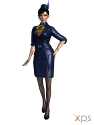 Zhenji DW9 Flight Attendant Costume V1.0 by Fubin83141