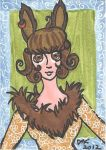 ACEO-ATC Rabbit Girl Ginger Snap! by MindOfPain