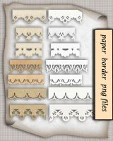 Png Paper Border by roula33