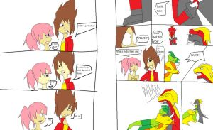 dinosaur king ep 80 pages  11 and 12 by imyouknowwho