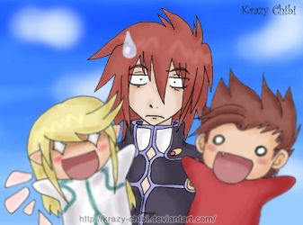 Kratos and the psycho puppets by Krazy-Chibi