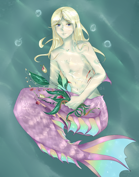 Comission mermaid by Kyutsui