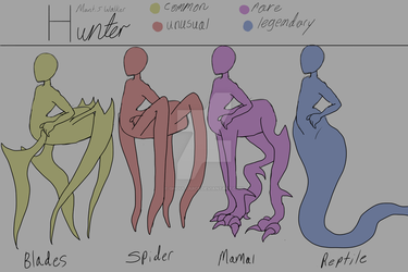 Hunter mantis Walker legs ref sheet by Ultra-ghoul